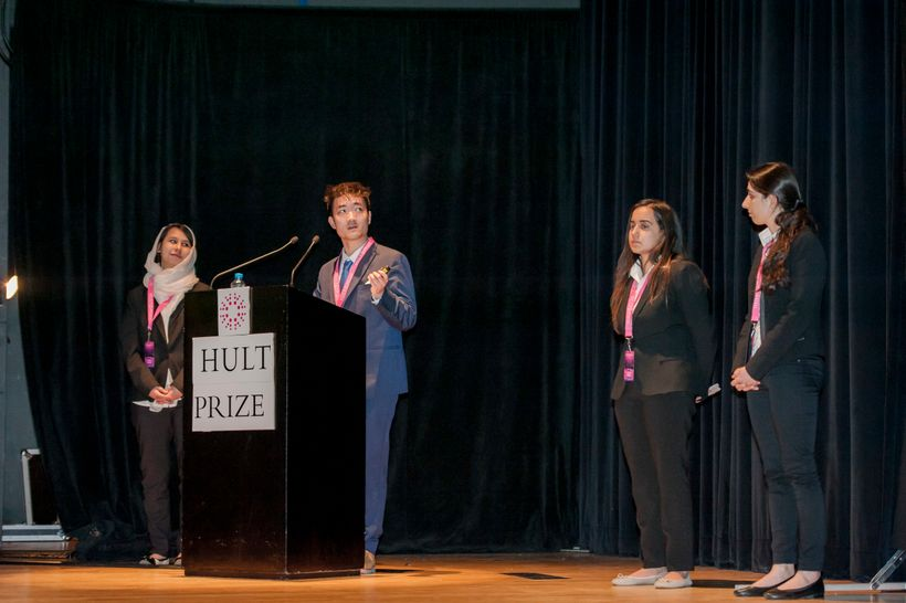 <em>Team ATLAS emerged as one of the top teams of out 50,000 student teams worldwide, presenting their idea in Dubai earlier