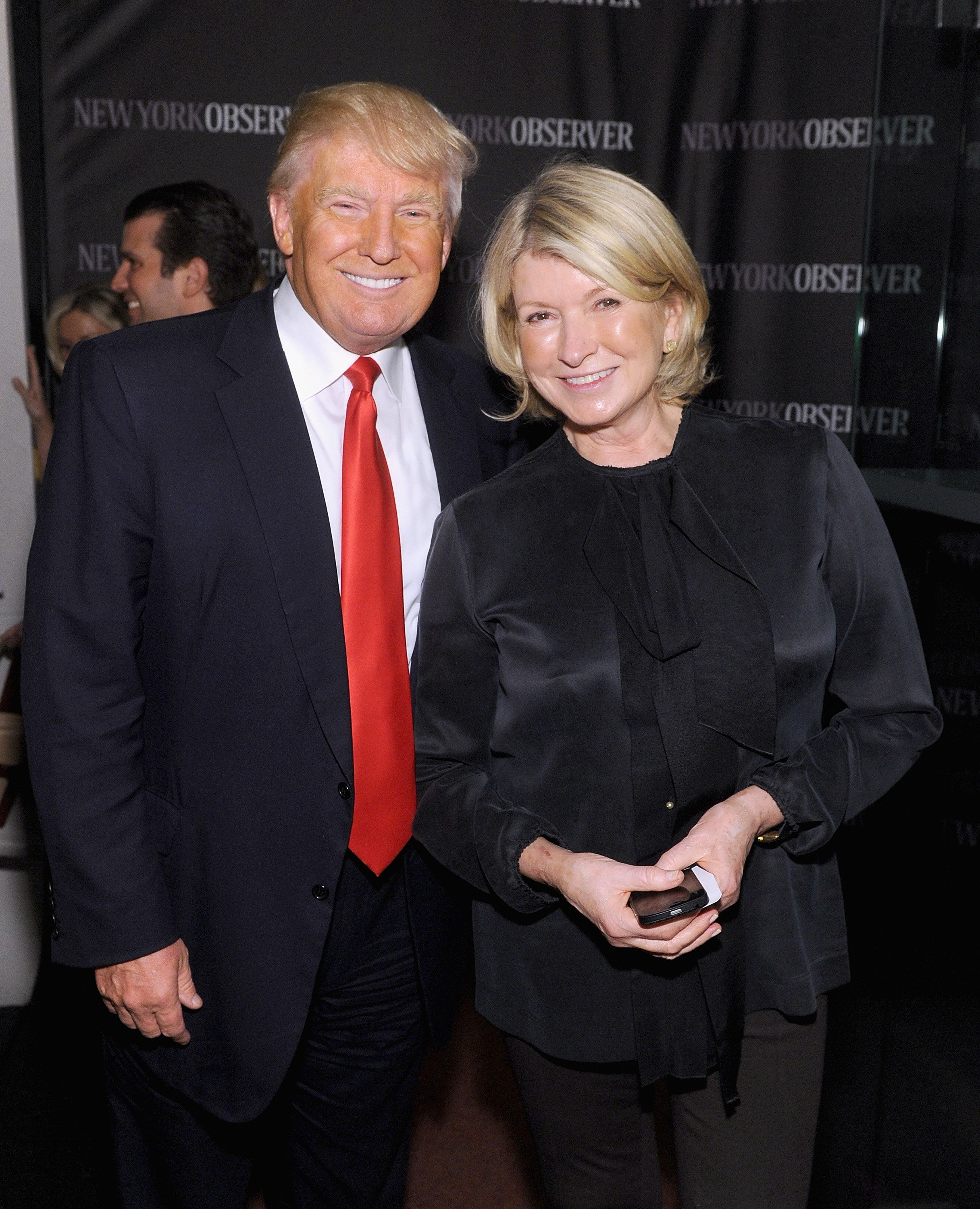 NEW YORK, NY - APRIL 01: Donald Trump and Martha Stewart attend The New York Observer Relaunch Event on April 1, 2014 in New York City.  (Photo by Jamie McCarthy/Getty Images)