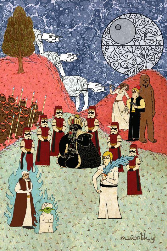 Star Wars in Persian Miniature Style: By Murat Palta