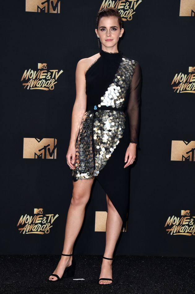 Emma Watson, winner of Best Actor for 'Beauty and the Beast', poses during the 2017 MTV Movie And TV...