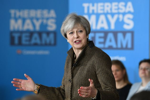 PA Wire  PA Images Theresa May's campaign posters focus on her