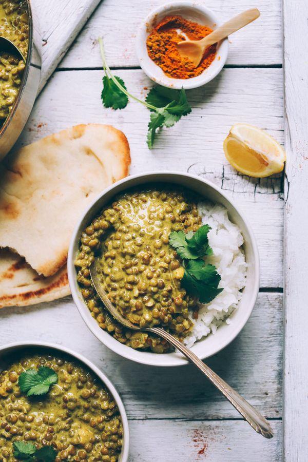 "<strong>Get the <a href=""http://minimalistbaker.com/1-pot-lentil-dal/"" target=""_blank"">1-Pot Lentil Dal recipe</a>from&"
