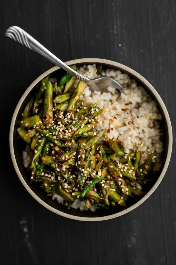 "<strong>Get the <a href=""https://naturallyella.com/asparagus-stir-fry/"" target=""_blank"">Asparagus Stir-Fry With Sesame-Miso S"