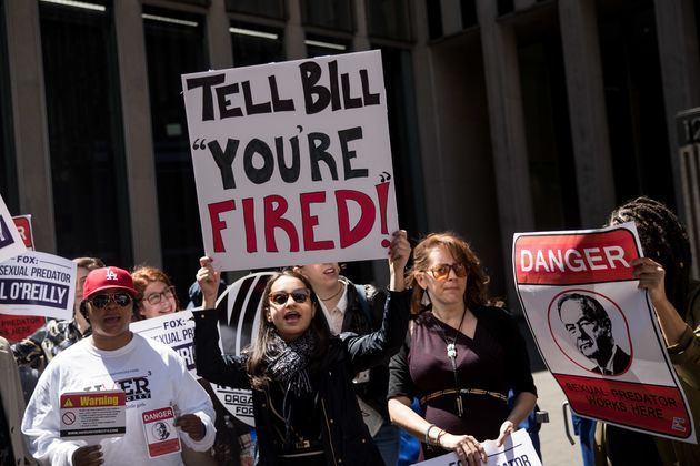 Demonstrators called for O'Reilly's removal before his ouster last