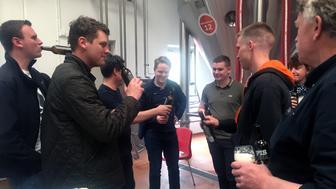 Visitors taste Pisner beer at the Norrebro Bryghus in Hedehusene, Denmark, May 4, 2017. Picture taken May 4, 2017. REUTERS/Julie Astrid Thomsen
