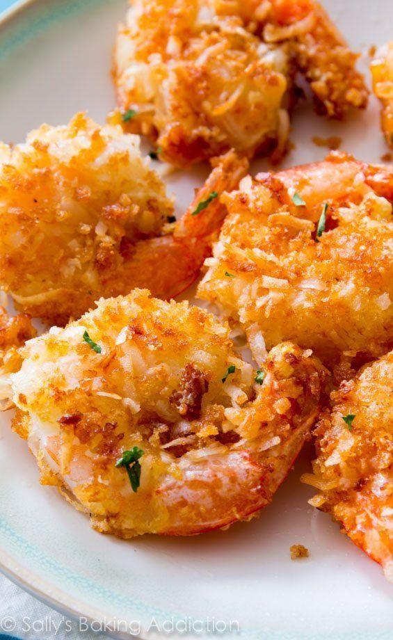 "<strong>Get the <a href=""http://sallysbakingaddiction.com/2014/06/26/easy-coconut-shrimp/"" target=""_blank"">Easy Coconut Shrim"