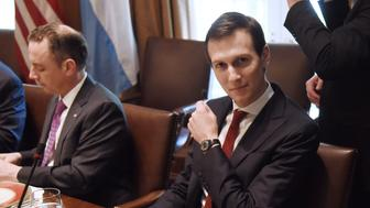 Jared Kushner, senior White House adviser, attends a luncheon with Mauricio Macri, Argentina's president, and U.S. President Donald Trump, not pictured, at the White House in Washington, D.C., U.S., on Thursday, April 27, 2017. Trump told his Argentine counterpart that he is reviewing the issue of lemon imports from the South American country after his administration halted a measure to allow renewed shipments to the U.S. Photographer: Olivier Douliery/Pool via Bloomberg