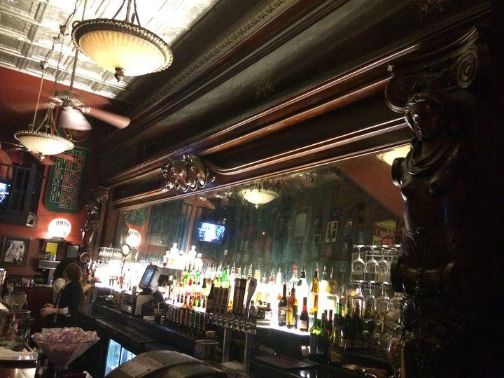 <p>The legendary backbar of the Ohio Club </p>