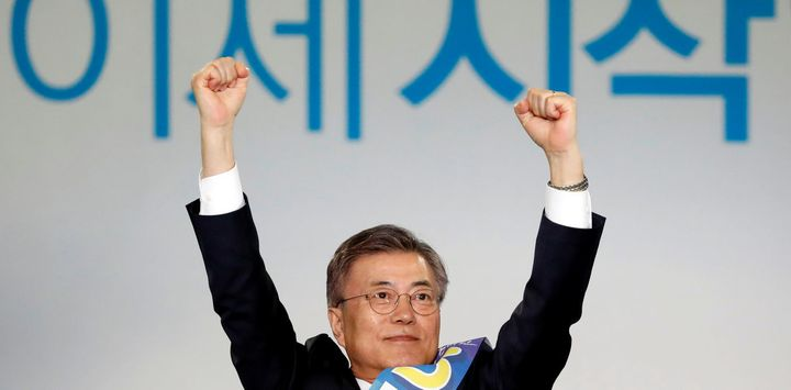 Moon Jae-in is expected to win the May 9 presidential election.