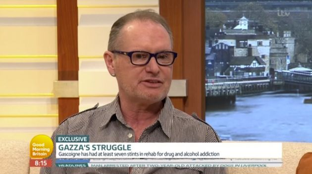 Paul Gascoigne made a candid appearance on 'Good Morning