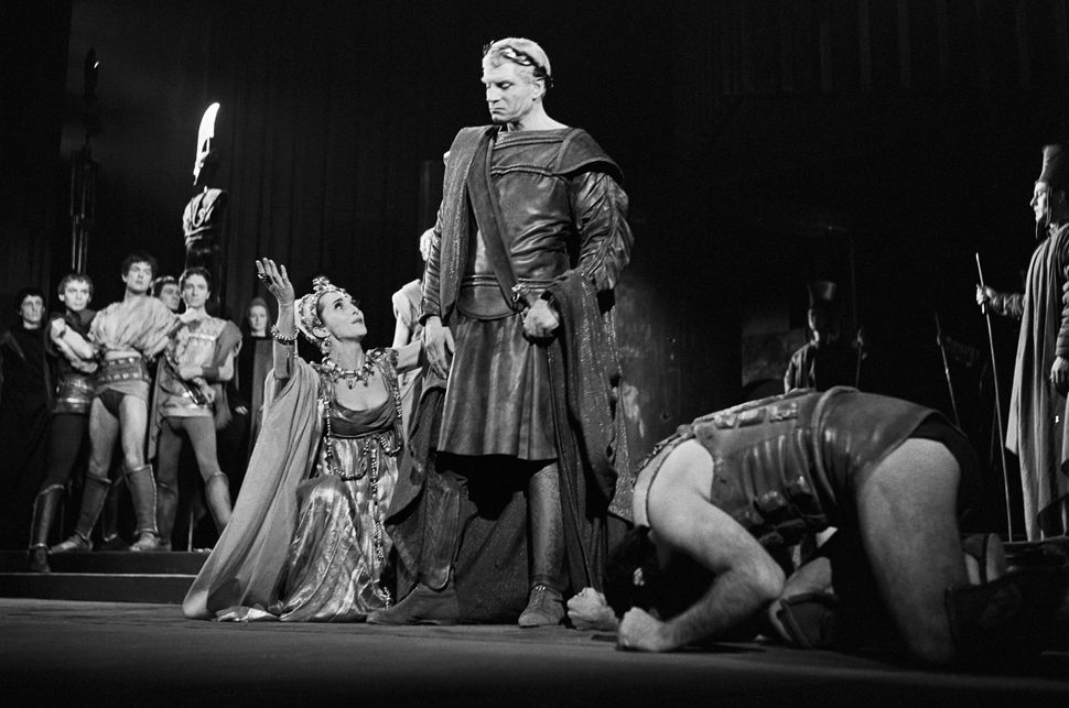 "Laurence Olivier in a stage production of ""Titus Andronicus"""