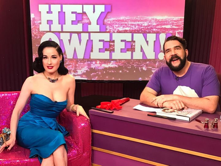 Dita Von Teese and Jonny McGovern on Hey Qween!