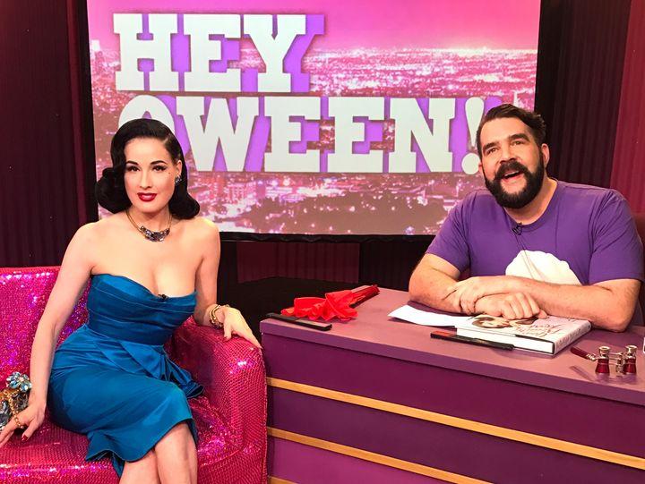 8e74ee6167e Dita Von Teese and Jonny McGovern on Hey Qween!