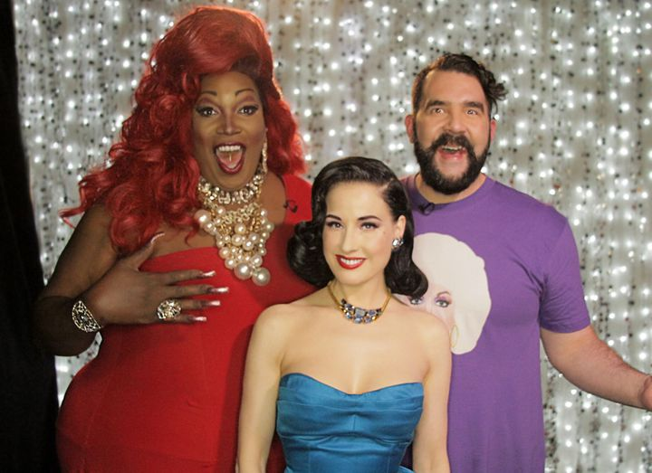 Dita Von Teese, Lady Red Couture and Jonny McGovern on Hey Qween!