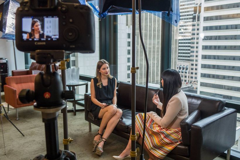 Sylwia Gorajek interviewing Angela Anthony, CEO of Scoutible