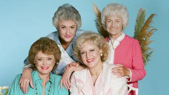 THE GOLDEN GIRLS -- Season 3 -- Pictured: (l-r) Rue McClanahan as Blanche Devereaux, Bea Arthur as Dorothy Petrillo Zbornak, Betty White as Rose Nylund, Estelle Getty as Sophia Petrillo -- Photo by: Ron Tom/NBCU Photo Bank