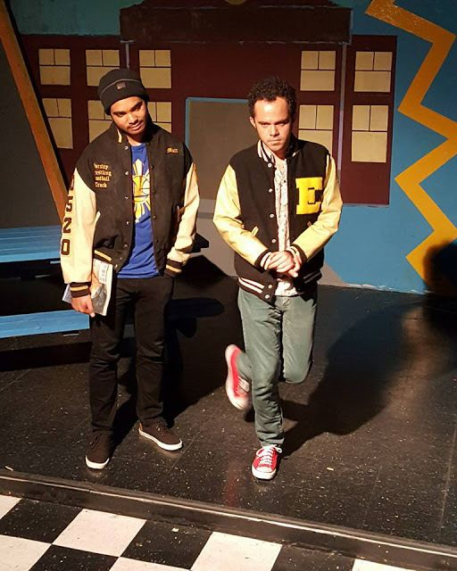 Matt (Geoffrey Malveaux) and CB (Michael Connor) are two high school jocks in <strong><em>Dog Sees God</em></strong>