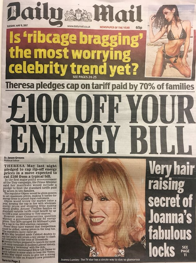 The Daily Mail's front page on