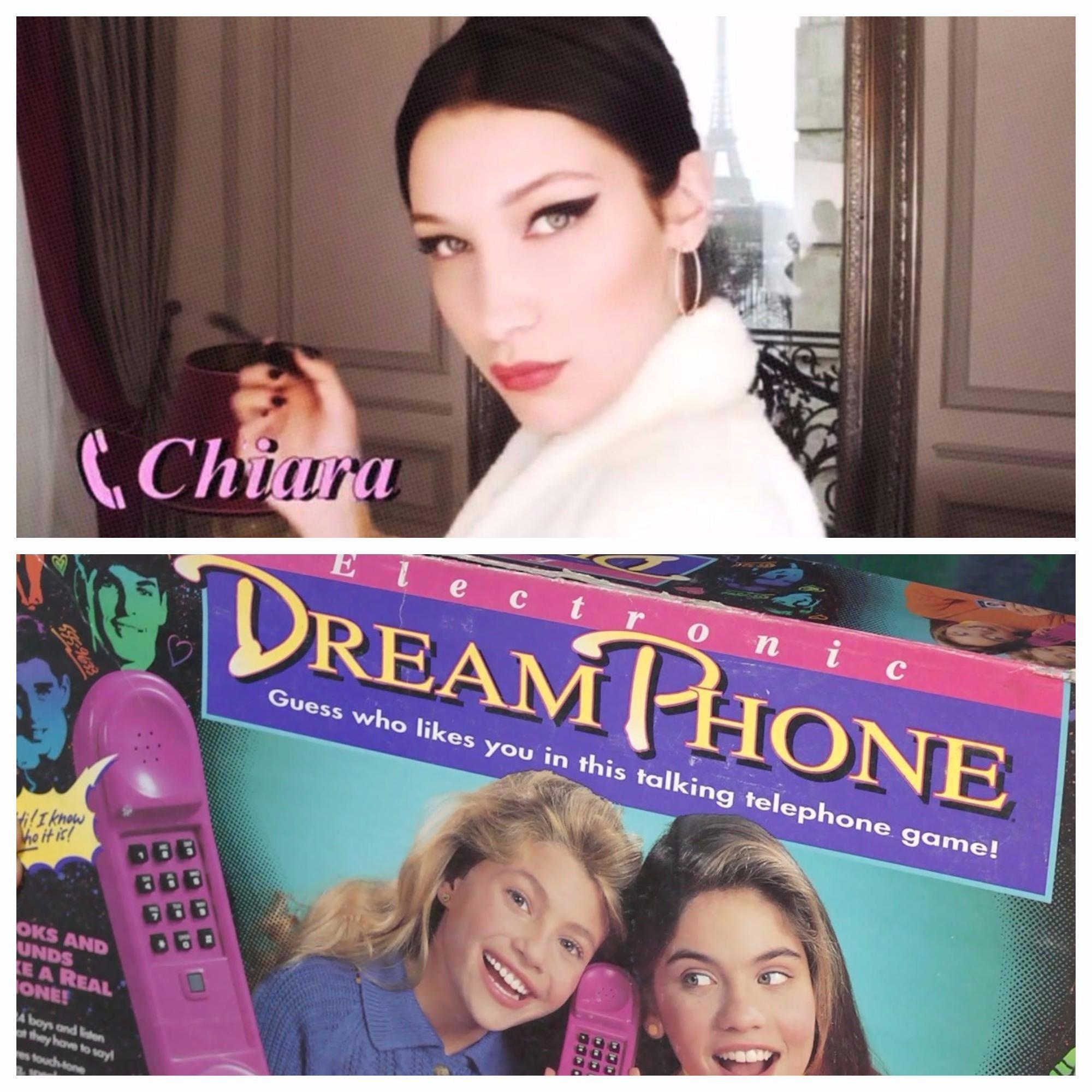 Bella Hadid And Chiara Ferragni Star In Dior's New Campaign And It's Giving Us 'Dream Phone'