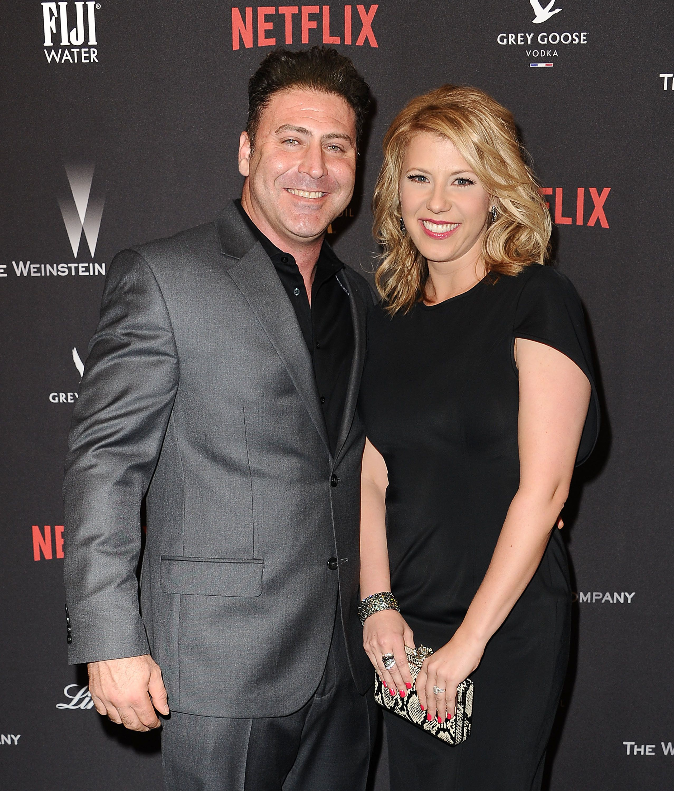 Jodie Sweetin and Justin Hodak attend a Netflix event in 2017.