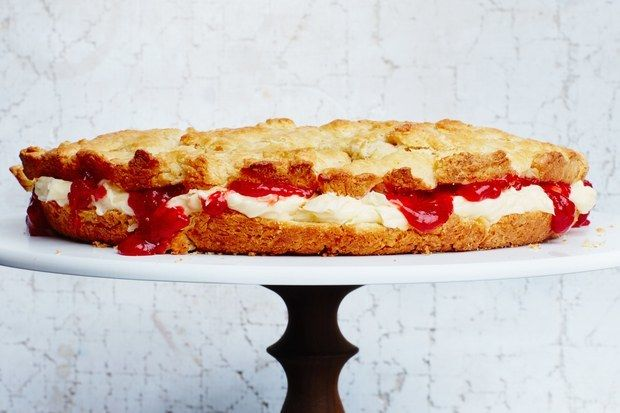 <p>When it comes to giant biscuits, there's no such thing as too much butter and jam.</p>