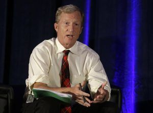 Billionaire environmentalist Tom Steyer pushed the environmental interests industry into seventh place in 2014 and 2016, amo