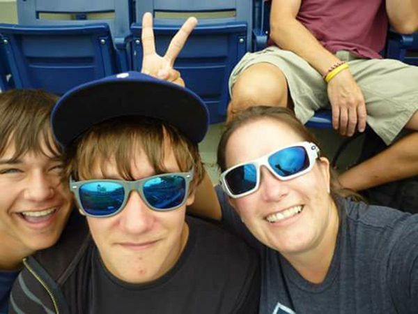 """This is one of my favorite #singlemamaselfies! It was taken at a Dodgers game when they played the Phillies. How often do th"