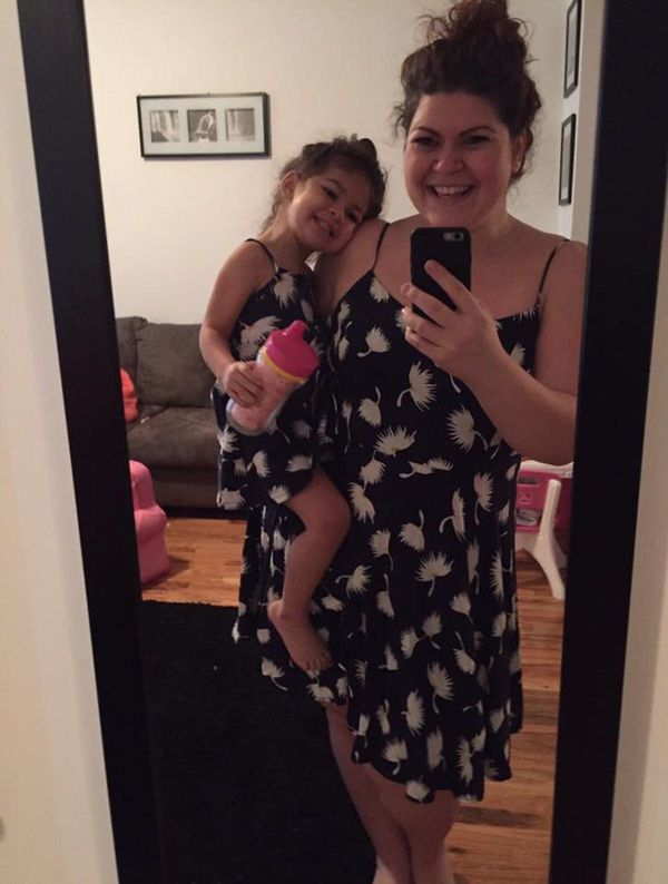 """When she wants to get the matching dresses. ❤️"" -- <i>Jessie Cohen</i>"