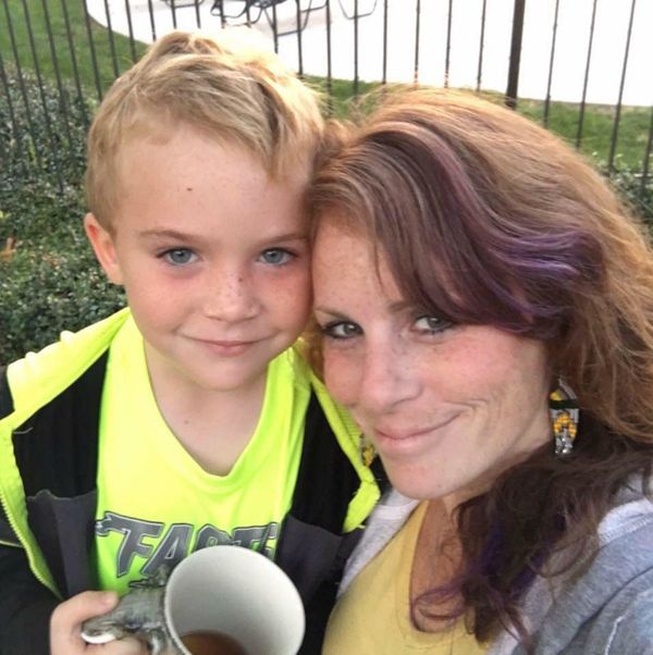 """Early morning hot cocoa and coffee. This sweet boy and me have been always been a team. He is my whole heart!"" -- <i>Or"