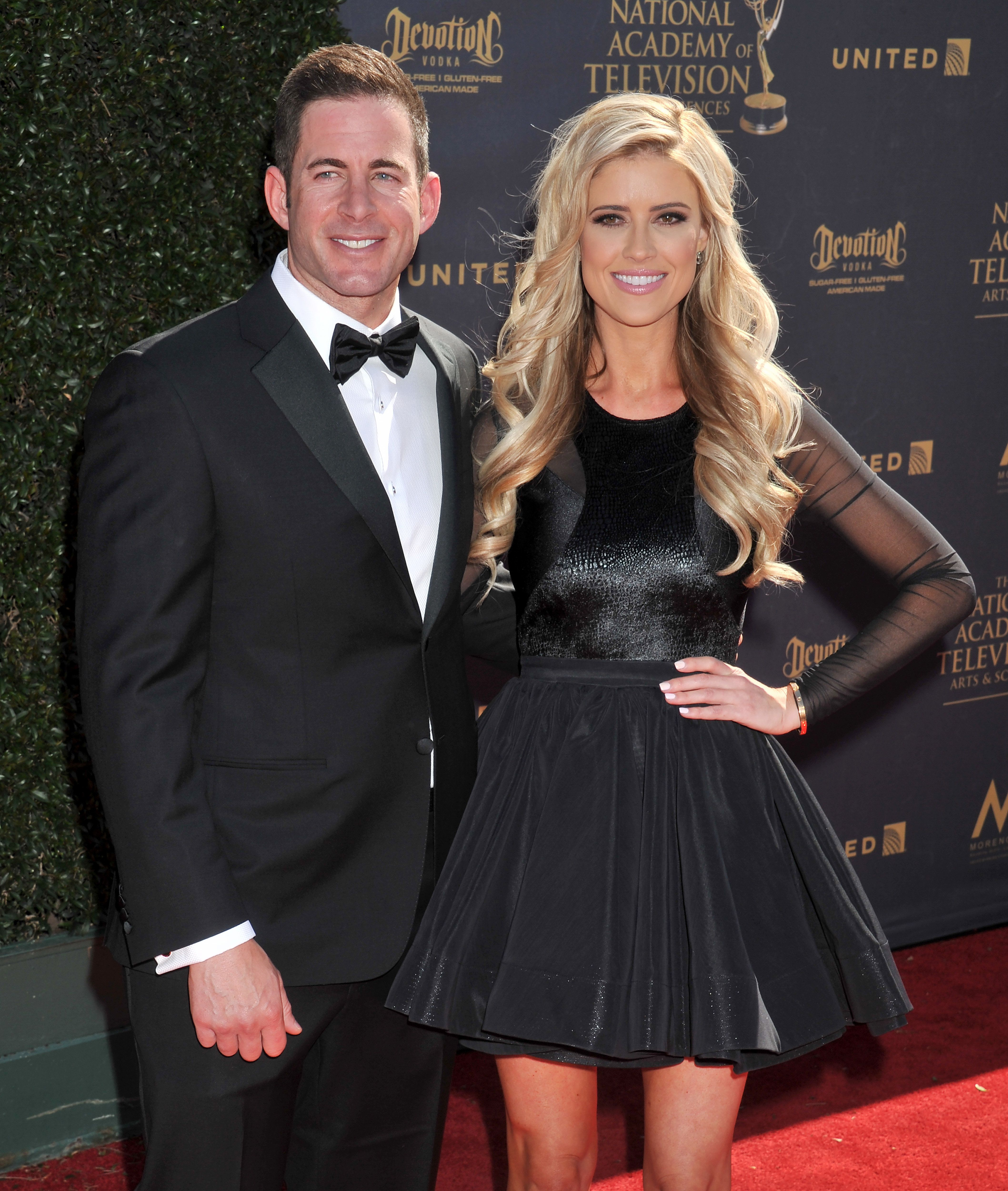 PASADENA, CA - APRIL 30:  Christina El Moussa and Tarek El Moussa arrive at the 44th Annual Daytime Emmy Awards at Pasadena Civic Auditorium on April 30, 2017 in Pasadena, California.  (Photo by Gregg DeGuire/WireImage)