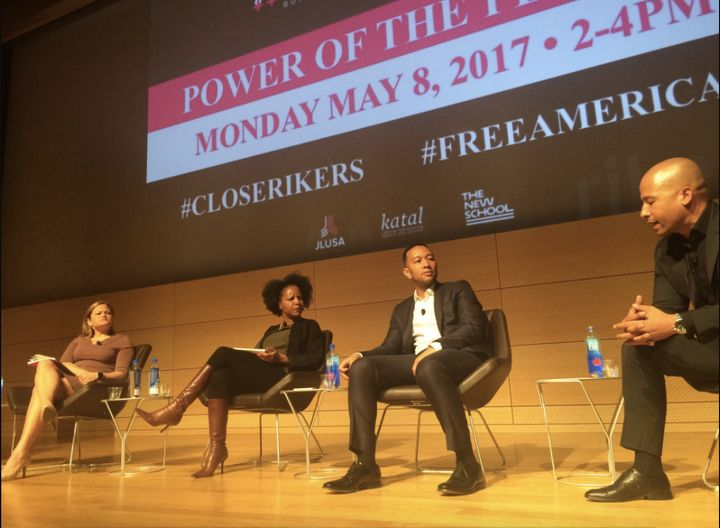 "The ""Power of the People"" panel was held at the Tishman Auditorium at The New School in Manhattan on Monday."