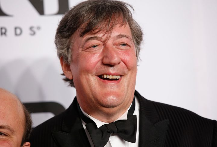 English actor Stephen Fry, seen at the Tony Awards in 2014, was under investigation by authorities in Ireland after call