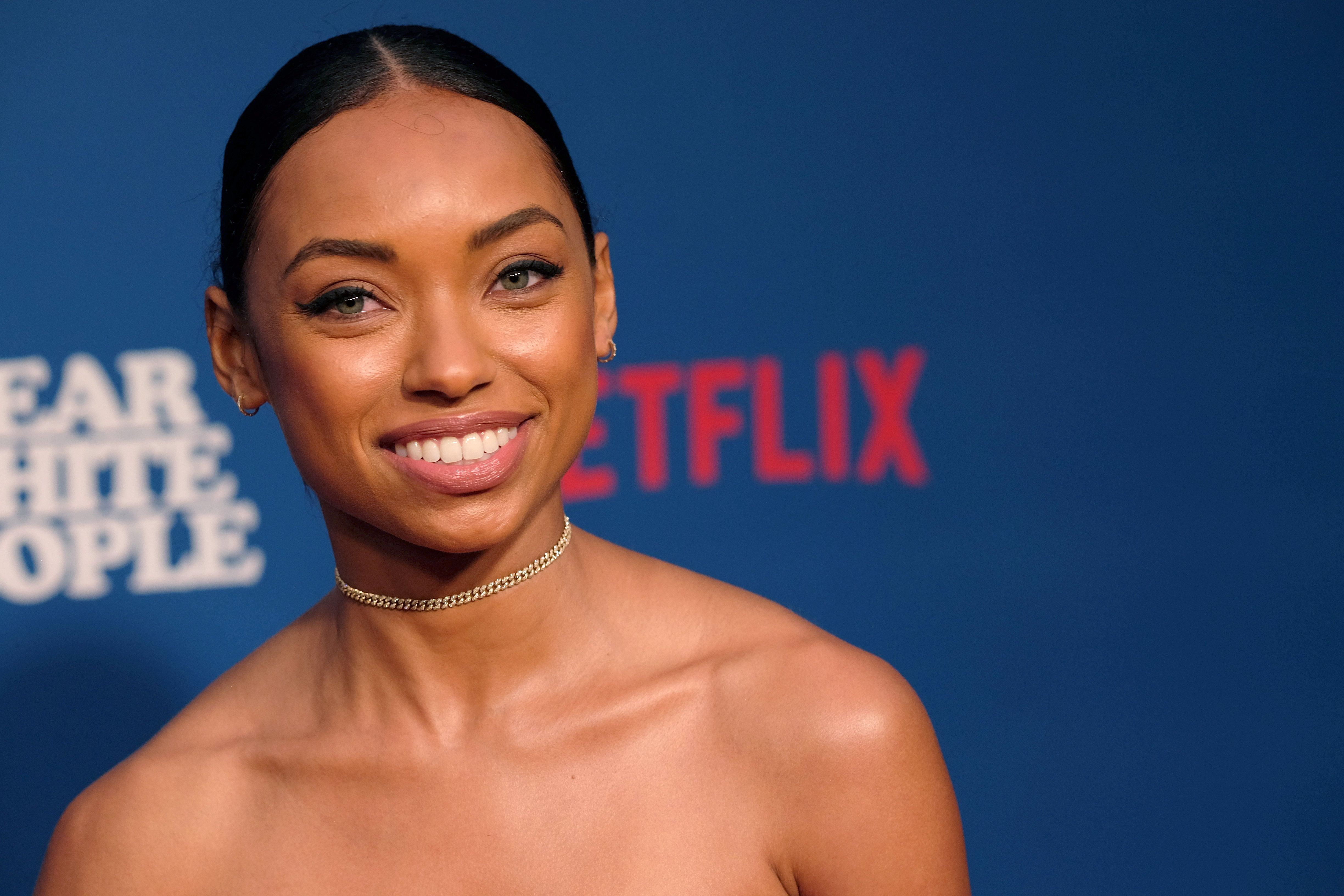 LOS ANGELES, CA - APRIL 27:  Actress Logan Browning attends the premiere of Netflix's 'Dear White People' at Downtown Independent on April 27, 2017 in Los Angeles, California.  (Photo by Matthew Simmons/Getty Images)