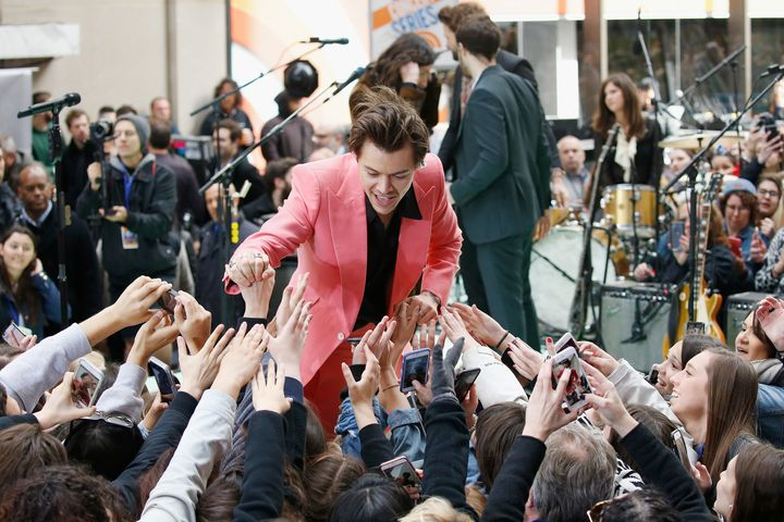 "Harry Styles performs on NBC's ""Today"" show Tuesday."