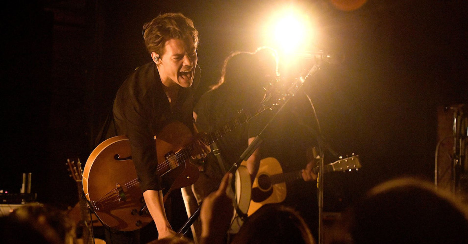 It 39 s only just beginning again for harry styles huffpost - Harry styles stage dive ...