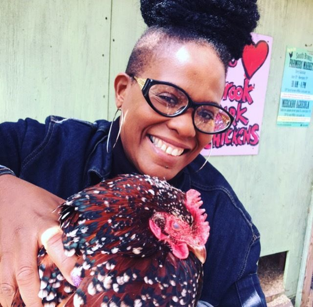Chicken duty at Brook Park in The South Bronx