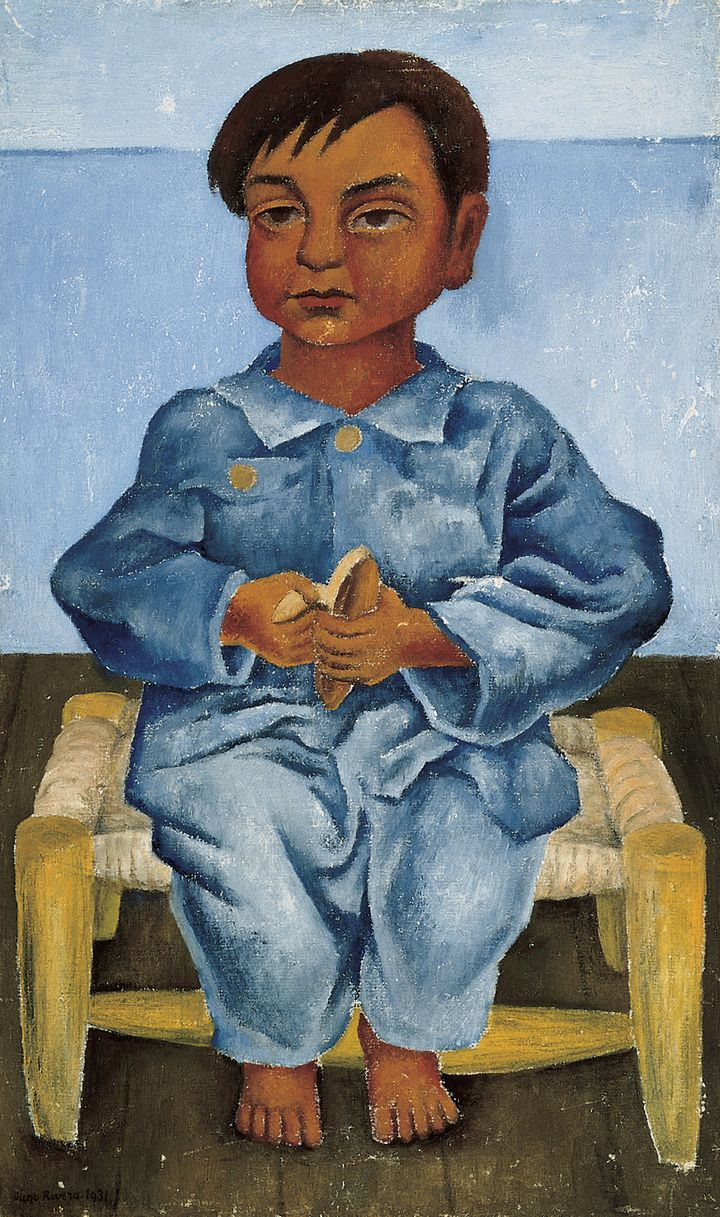Diego Rivera (Mexican, 1886-1957) <em>Blue Boy with Banana</em>, 1931, Oil on canvas