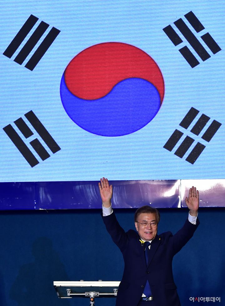 South Korean president-elect Moon Jae-in/ Photographed by AsiaToday reporter Lee Byung-hwa