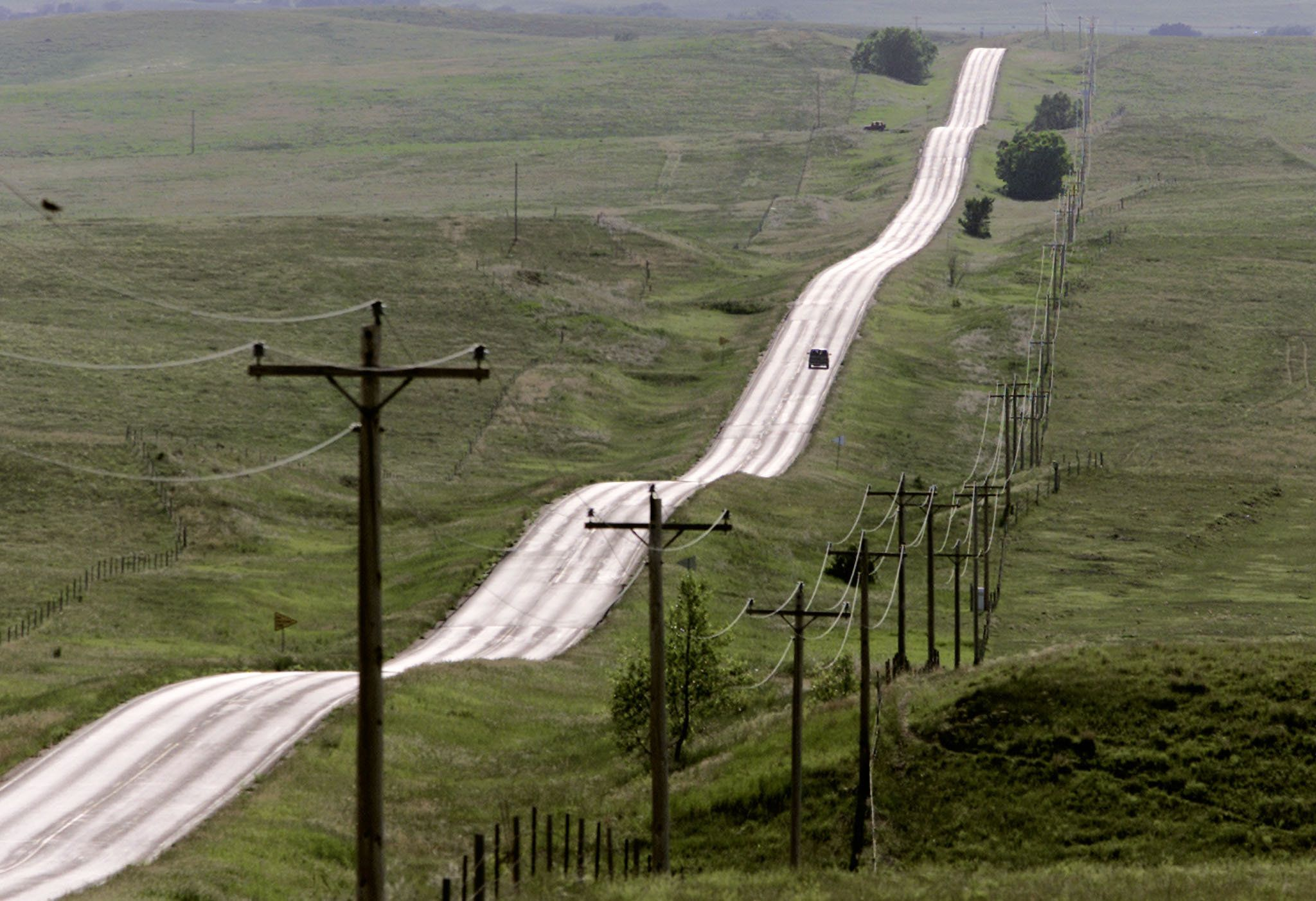 Residents of the Pine Ridge Indian Reservation in South Dakota must travel long distances along remote...