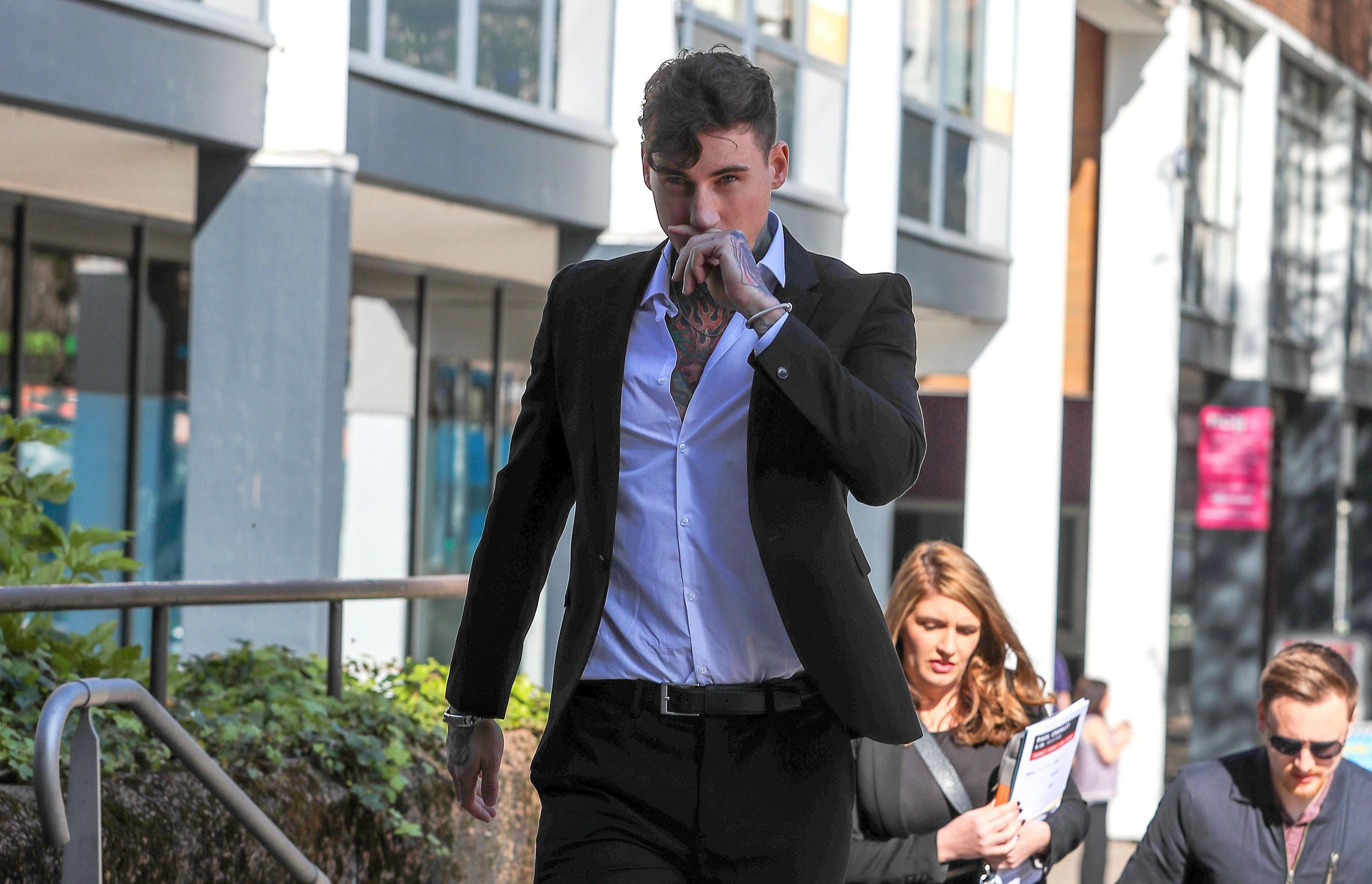 Jeremy McConnell arrives at Liverpool Magistrates Court on Wednesday (10