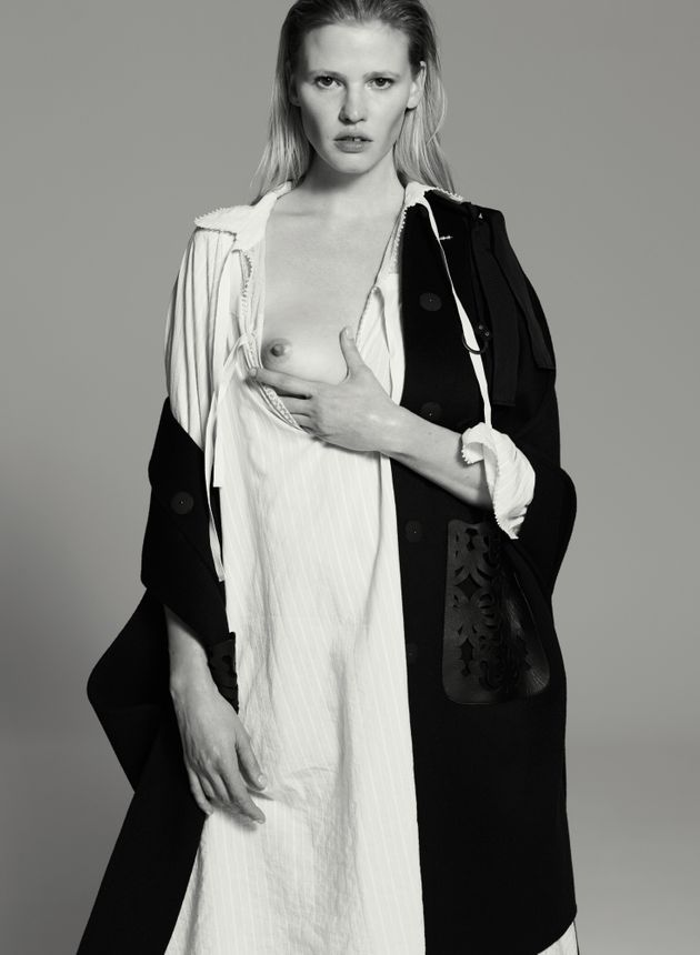 Lara Stone Graces V Magazine, 10 Years After Her Debut