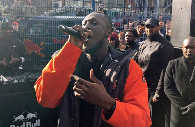 The real Stormzy, the one who didn't speak with Corbyn by