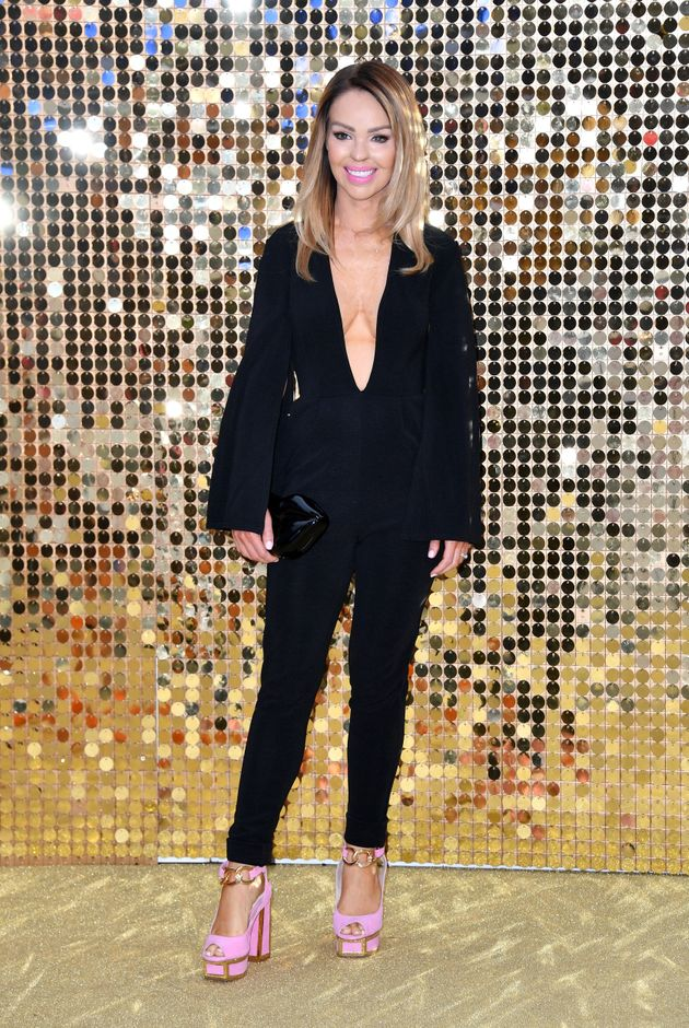 Katie Piper attends the 'Absolutely Fabulous: The Movie' World Premiere at the Odeon Leicester Square...