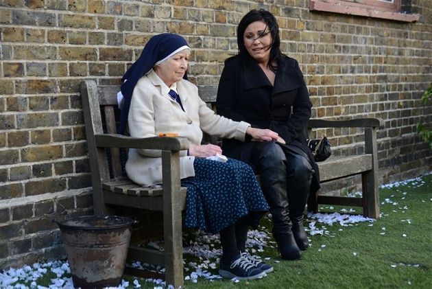 June Whitfield played the nun who revealed the truth to
