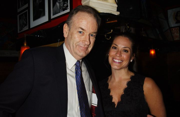 Bill O'Reilly with then-wife Maureen McPhilmy at an Academy Awards viewing party.