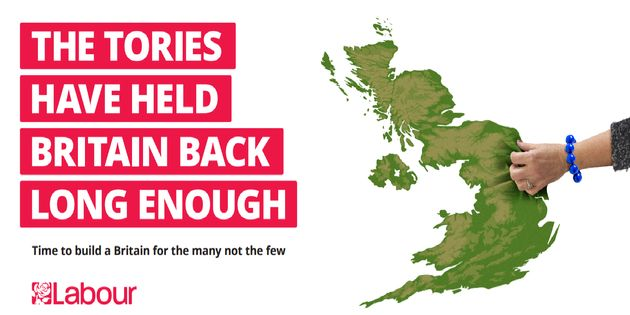 Labour's first 2017 general election campaign poster is set to be