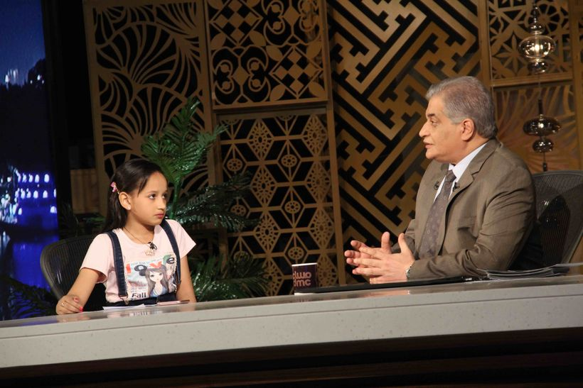 <em>Nada, a 10-year-old girl who lost her father, brigadier general Ahmed Abdel-Nabi, during an ISIS terrorist attack, with O