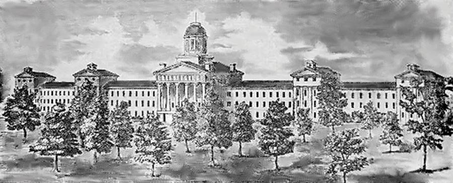 The Mississippi State Lunatic Asylum operated from 1855 to 1935. It was located at the site of today's University of Mississi