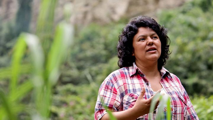 Berta Cáceres. Credit, Goldman Environmental Foundation