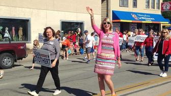 Jean Stothert at right marches in South Omahas annual Cinco de Mayo parade The citys Republican mayor has cast herself as in touch with the needs of Latino constituents